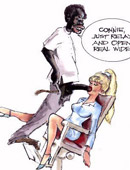 Xxx interracial cartoon porn pics of white babe doing their best just to be cum filled.